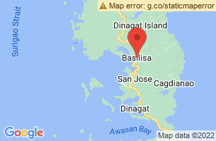 Map of Bitaog Beach, Basilisa Dinagat Islands