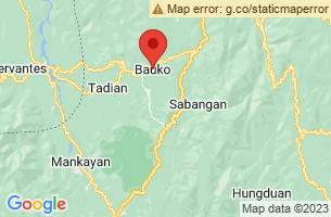 Map of Bauko, Bauko Mountain Province