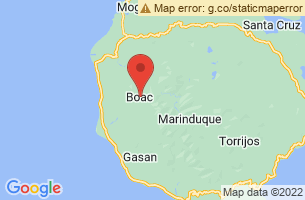 Map of Marinduque Island, Boac Marinduque