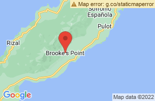 Map of Brookes Point Forest, Brooke's Point Palawan