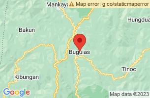 Map of Buguias, Buguias Benguet