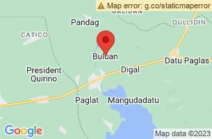 Map of Lake Buluan Game Refuge, Buluan Maguindanao