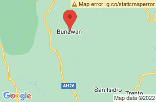 Map of Agusan Marsh, Bunawan Agusan del Sur