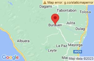 Map of Burauen, Burauen Leyte