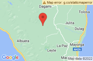 Map of Mahagnao Volcano, Burauen Leyte