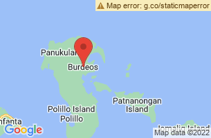Map of Minasawa Island Bird Sanctuary, Burdeos Quezon