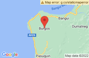 Map of Burgos, Burgos Surigao del Norte