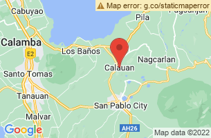Map of Mount Kalisungan, Calauan Laguna