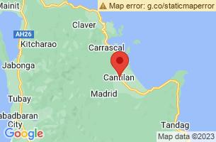 Map of Libtong Cove Blue Lagoon, Cantilan Surigao del Sur