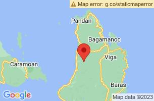 Map of Catanduanes Forest Reserve, Caramoran Catanduanes