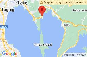 Map of Talim Island, Cardona Rizal