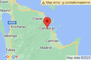 Map of Carrascal, Carrascal Surigao del Sur
