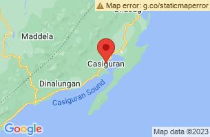 Map of Casiguran, Casiguran Aurora