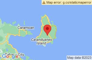 Map of Catanduanes,
