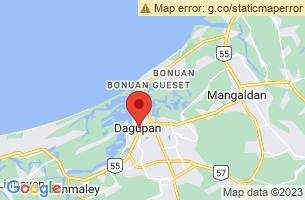Map of Tondaligan Beach, Dagupan City Pangasinan
