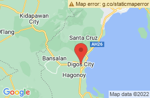 Map of Marawer Cold and Hot Spring, Digos City Davao del Sur