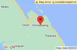 Map of Dimasalang, Dimasalang Masbate