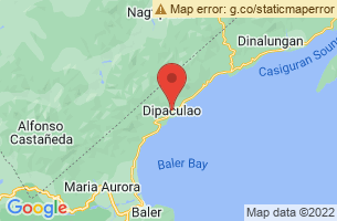 Map of Dinadiawan Beach, Dipaculao Aurora