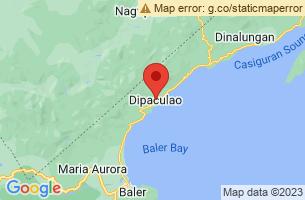 Map of Borlongan Beach, Dipaculao Aurora