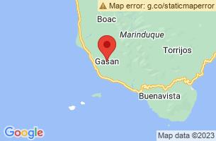 Map of Melchor Island Sanctuary, Gasan Marinduque