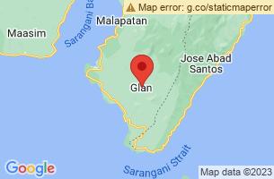 Map of Glan, Glan Sarangani