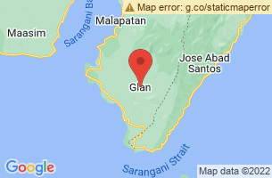 Map of Gumasa Beach, Glan Sarangani