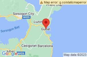 Map of Gubat Surfing Break, Gubat Sorsogon