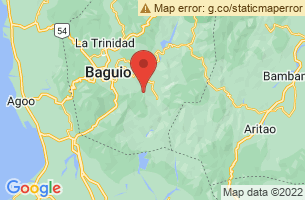Map of Mount Ugo, Itogon Benguet