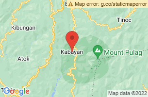 Map of Lake Incolos, Kabayan Benguet