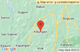 Map of Palina Rice Terraces, Kibungan Benguet