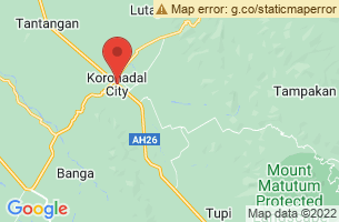 Map of Siok Falls, Koronadal City South Cotabato