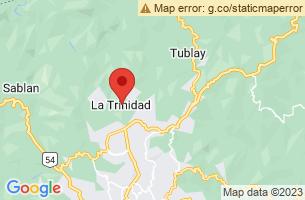 Map of La Trinidad, La Trinidad Benguet