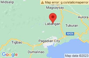 Map of Labangan, Labangan Zamboanga del Sur