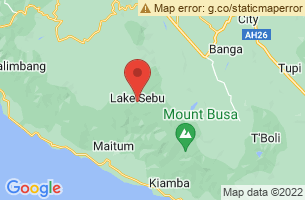 Map of Tboli, Lake Sebu South Cotabato