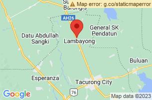 Map of Lambayong, Lambayong Sultan Kudarat
