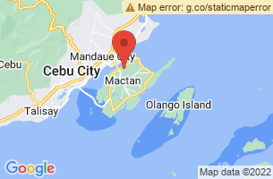 Map of Hilutungan Island Marine Sanctuary or Gilutongan Island, Lapu-Lapu City Cebu