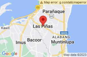 Map of Las Pinas Bamboo Organ, Las Pinas Manila