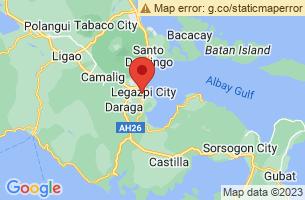 Map of Kapuntukan Hill, Legazpi City Albay