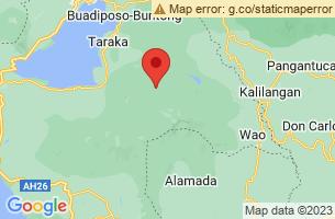 Map of Mount Ragang, Lumba-Bayabao Lanao del Sur