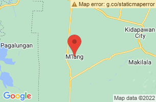 Map of M'lang, M'lang Cotabato