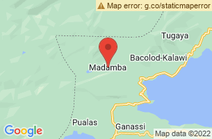 Map of Madamba, Madamba Lanao del Sur