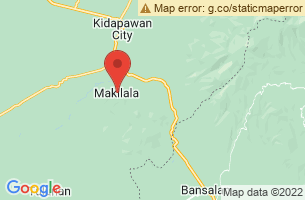 Map of Mount Apo Bagobo, Makilala Cotabato