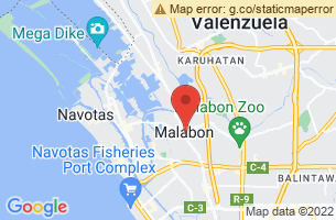 Map of Tullahan River, Malabon Manila