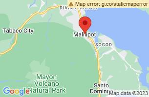 Map of Busay Falls, Malilipot Albay