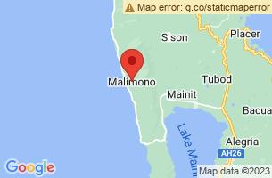 Map of Malimono, Malimono Surigao del Norte