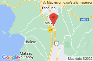 Map of Calijon Falls, Malvar Batangas