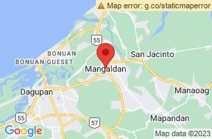 Map of Mangaldan, Mangaldan Pangasinan