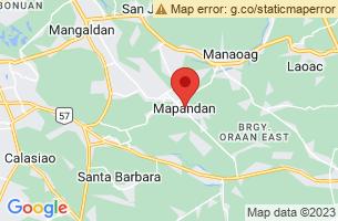 Map of Mapandan, Mapandan Pangasinan