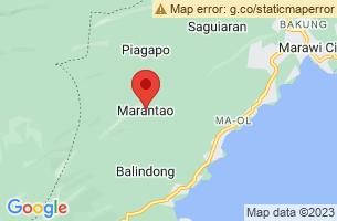 Map of Marantao, Marantao Lanao del Sur