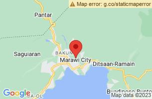 Map of Lake Lanao Reserve, Marawi City Lanao del Sur